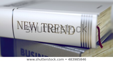Livre titre nouvelle tendance 3d illustration Photo stock © tashatuvango