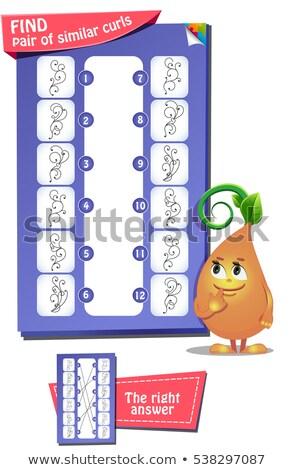 Vinden paar soortgelijk spel kinderen school Stockfoto © Olena