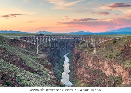 rio grande river gorge new mexico united states stock photo © qingwa