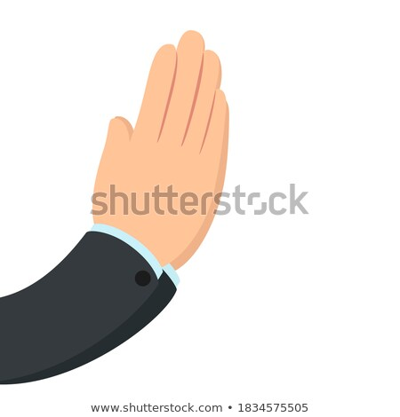 Hand asking isolated. Finger of businessman. Vector illustration Stock photo © MaryValery