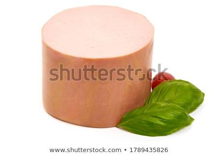 Slices of Mortadella Stock photo © zhekos