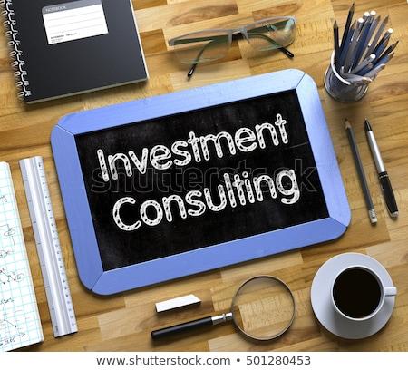consultation on small chalkboard 3d stock photo © tashatuvango