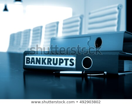 bankrupts on office folder blurred image 3d stock photo © tashatuvango