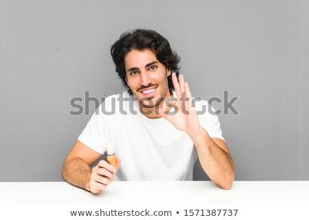 笑みを浮かべて · 新郎 · にログイン · 白人 - ストックフォト © rastudio