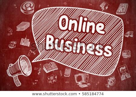 On-line consulta rabisco ilustração vermelho quadro-negro Foto stock © tashatuvango