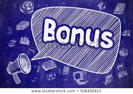 Bonus cartoon illustrazione blu lavagna Foto d'archivio © tashatuvango