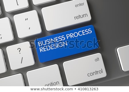 Keyboard with Blue Key - Business Process Redesign. Stock photo © tashatuvango