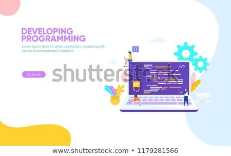 Atterrissage page portable source code 3D Photo stock © tashatuvango
