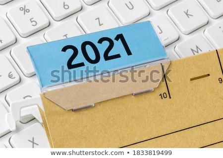 Akta címke kártya közelkép kilátás szelektív fókusz Stock fotó © tashatuvango