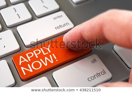 apply now   white keyboard concept stock photo © tashatuvango