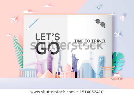 Egypt. Time to Travel. Journey, trip and vacation. Vector travel illustration. Stock photo © Leo_Edition