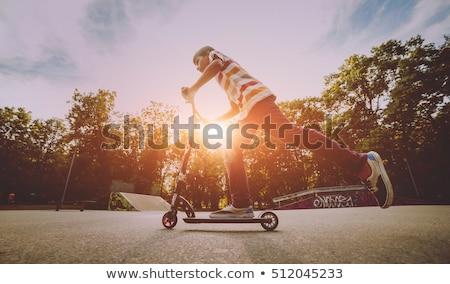 Springen kick park man stedelijke energie Stockfoto © IS2