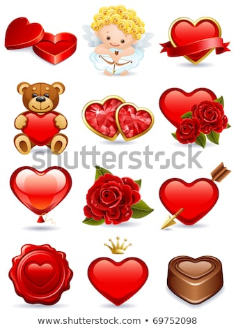 cute · panda · hart · Valentijn · liefde - stockfoto © orensila