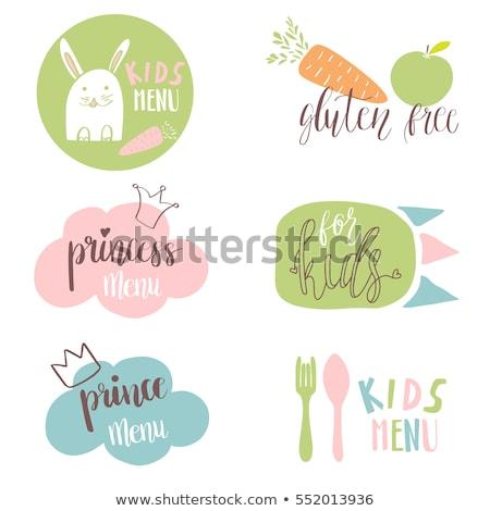 voedsel · stickers · groene · Blauw · koffie - stockfoto © mcherevan