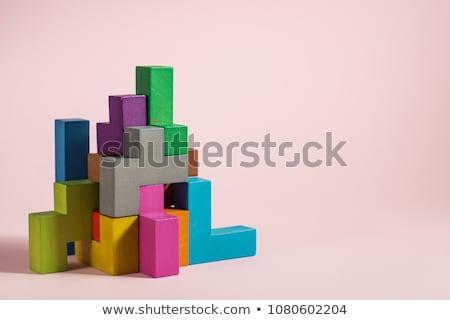 contactar · forma · ninos · educativo · juego · adultos - foto stock © olena
