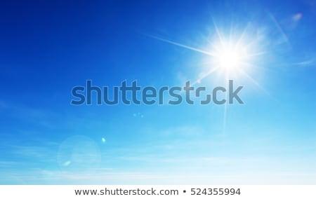 Cielo azul brillante sol celestial cielo nubes Foto stock © serg64
