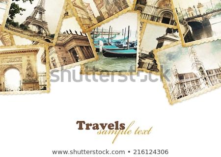 The collage of paris photos collection Stock photo © Elnur