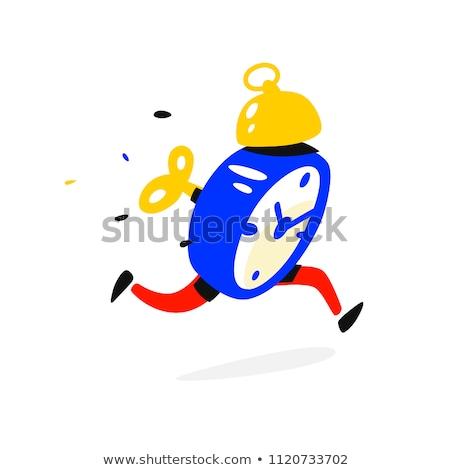 Mascot Alarm Clock Run Stock photo © lenm