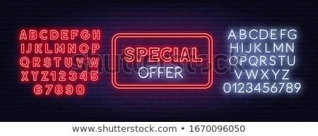 Oferta specjalna neon 3D ilustracja podpisania Zdjęcia stock © stevanovicigor