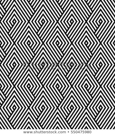Seamless rhombus black and white pattern. Stock photo © yopixart