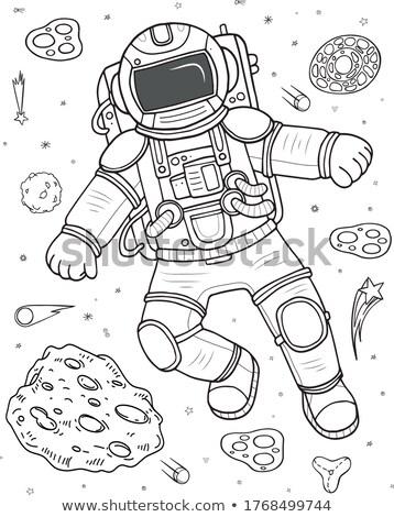 Astronot Boyama Kitabi Uzay Adam Mutlu Calismak