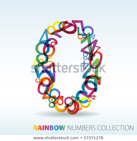 number zero made from colorful numbers stock photo © orson