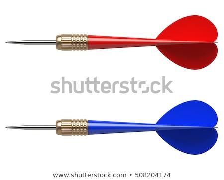 дартс · целевой · номера · красный - Сток-фото © foxysgraphic