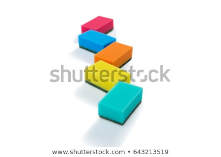 Colorful sponges against white backgroud Stock photo © wavebreak_media