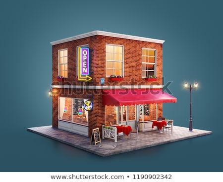неоновых коктейль город знак 3D Сток-фото © user_11870380