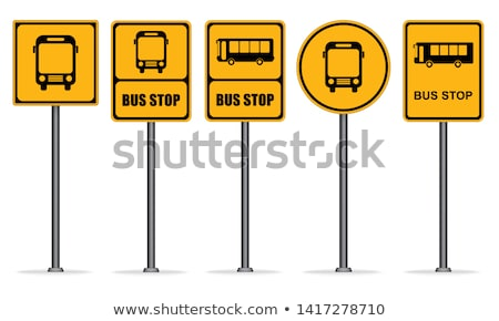 Otobüs durağı imzalamak yalıtılmış otobüs istasyon iş Stok fotoğraf © popaukropa