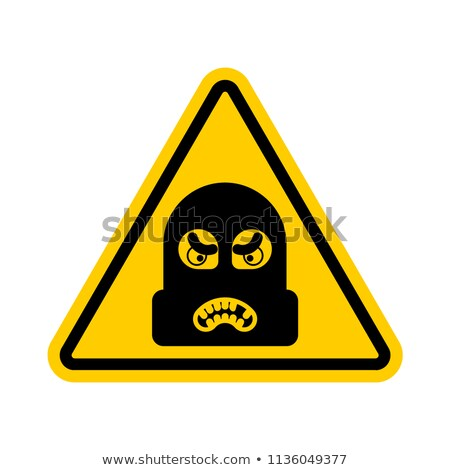 Attention Robber. Caution Rogue. It is forbidden Burglar. Yellow Stock photo © popaukropa