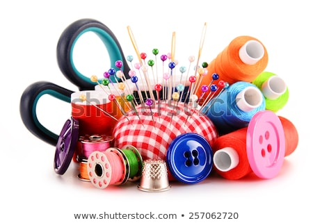 colored threads and thimble  Stock photo © OleksandrO