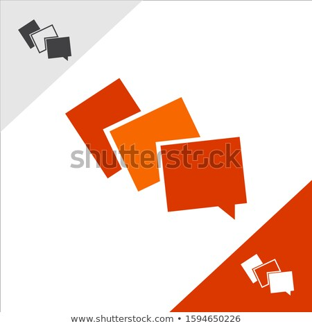 Live chat icon with dialog clouds vector. Speech bubble symbol for your web site design, logo, app,  Stock photo © MarySan