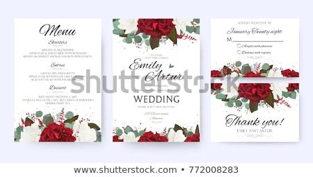 Kırmızı düğün davetiyesi düğün dizayn Stok fotoğraf © SArts