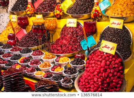 Tehran dried fruits market stall Stock photo © joyr