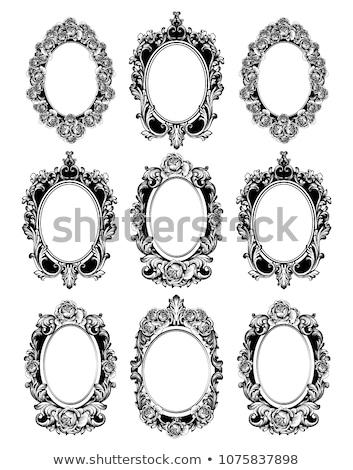 Vintage spiegel frames ingesteld vector collectie Stockfoto © frimufilms