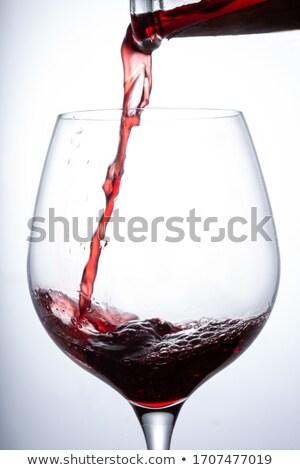 Pair of Drinks Winery Refreshing Merlot Beverages Stock photo © robuart