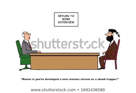Cartoon мужчины бобр говорить иллюстрация счастливым Сток-фото © cthoman