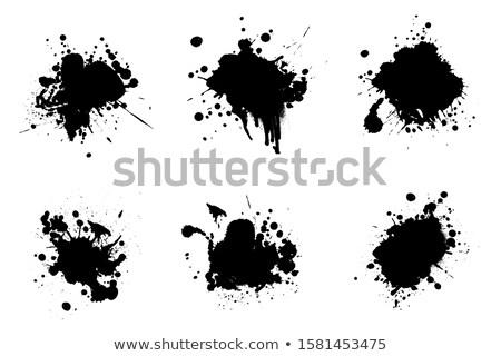 vector · salpicaduras · pintura · resumen · negro · establecer - foto stock © kyryloff