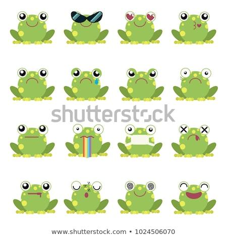 Rajz gekkó szeretet illusztráció zöld fiatal Stock fotó © cthoman