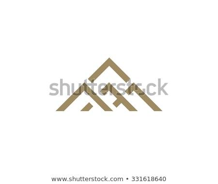 Logo dağ mektup m ikon simge iş Stok fotoğraf © blaskorizov
