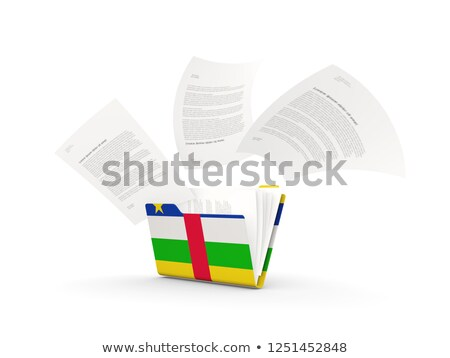 Folder with flag of central african republic Stock photo © MikhailMishchenko