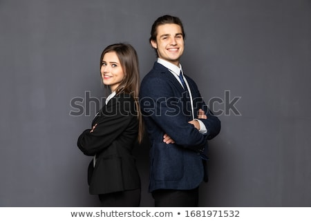 çift · işadamları · ofis · çalışmak · arka · plan · erkekler - stok fotoğraf © Minervastock