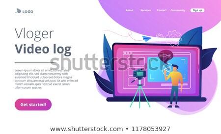 Bloging concept landing page. Stock photo © RAStudio