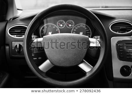 Belső modern autó kormánykerék hat viselet Stock fotó © ruslanshramko