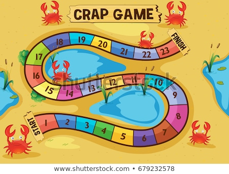 Boardgame template with crabs on the sand Stock photo © colematt