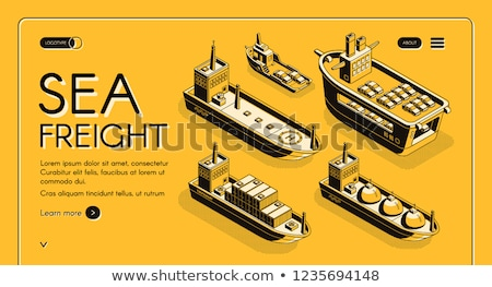 Water Transport Cargo Shipment Sea Set Vector Stock photo © robuart