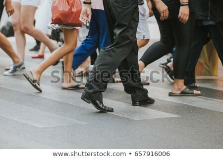 Menigte mannen vrouwen pop art retro Stockfoto © studiostoks