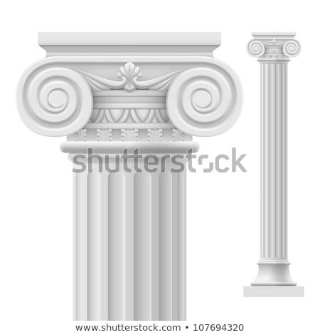 Greco colonna bianco rendering 3d architettura storia Foto d'archivio © make