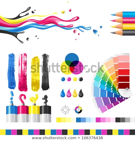 ink splash cmyk print icon vector Stock photo © blaskorizov